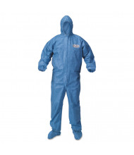 KleenGuard A60 Blood and Chemical Splash Protection Coveralls, X-Large, Blue, 24/Pack