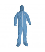 A65 Hood & Boot Flame-Resistant Coveralls, Blue, 4X-Large, 21/Pack