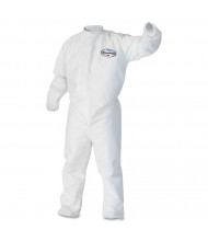 KleenGuard A30 Elastic-Back & Cuff Coveralls, White, Large, 25/Pack