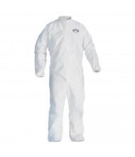 KleenGuard A30 Elastic-Back & Cuff Coveralls, White, X-Large, 25/Pack