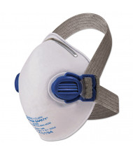 Jackson Safety R10 Particulate Respirator, N95, White w/Gray Straps, 10/Pack