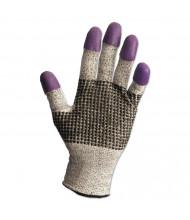 Jackson Safety G60 Purple Nitrile Gloves, Medium/Size 8, Black/White