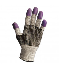 Jackson Safety G60 Purple Nitrile Gloves, Large/Size 9, Black/White