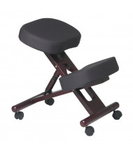 Office Star Memory Foam Fabric Wood Ergonomic Kneeling Chair