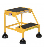 "Vestil 18.5"" H Rubber 2-Step Spring Loaded Ladder (Shown in Yellow)"