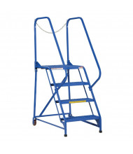 "Vestil 70"" H 4-Step Maintenance Ladder LAD-MM-4-G (Grip strut model shown)"