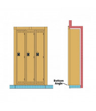 Tennsco Recessed Locker Bottom Angles