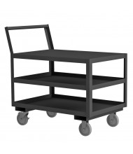 Durham Steel 3-Shelf 1200 lb Load Low Deck Stock Carts