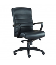 Eurotech Manchester LE255 Leather Mid-Back Executive Office Chair (Shown in Black)