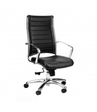 Eurotech Europa LE811 Leather High-Back Executive Office Chair (Shown in Black)