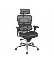 Eurotech ErgoHuman LEM4ERG Multifunction Mesh-Back Leather High-Back Office Chair, Headrest