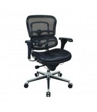Eurotech ErgoHuman LEM6ERGLO Multifunction Mesh-Back Leather Mid-Back Executive Office Chair