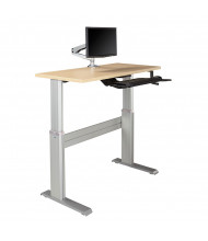 "RightAngle Levante ZP 28"" - 47"" H Crank Height Adjustable Standing Desk (Shown in maple top with silver base; table/base only. Accessories not included.)"