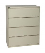 "Office Star 4-Drawer 36"" W Lateral File Cabinet, Letter & Legal (Shown in Putty)"