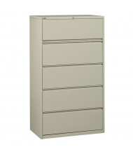 """Office Star 5-Drawer 36"""" W Lateral File Cabinet, Letter & Legal (Shown in Putty)"""