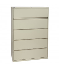 "Office Star 5-Drawer 42"" W Lateral File Cabinet, Letter & Legal (Shown in Putty)"