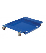 "Vestil LFH-55 Floor Hugger Low-Profile 840 lb. 21"" x 21.5"" Steel Dolly"