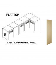 Tennsco Flat Top Box End Panel