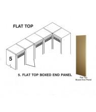 Tennsco Flat Top Box End Panel