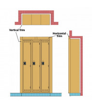 Tennsco Recessed Locker Trims
