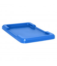 "Quantum Storage 25-1/8"" D x 16"" W Cross Stack Plastic Storage Tub Lids, 6 Pack (Shown in Blue)"