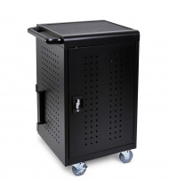Luxor 30 Tablet & Chromebook Charging Cart, Key Lock, Black