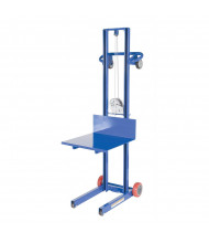"Vestil 51"" to 60"" Lift 500 lb Load Steel Lite Load Lifts (4-Wheel Winch)"