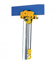 Vestil Gear 1000 to 6000 lb Load Low Headroom Chain Hoist Trolley