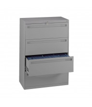 "Tennsco 4-Drawer 30"" Wide Lateral File Cabinet - Medium Grey"