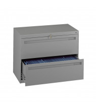 "Tennsco 2-Drawer 36"" Wide Lateral File Cabinet - Medium Grey"