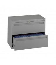 "Tennsco LPL4224L20 2-Drawer 42"" Wide Lateral File Cabinet - Medium Grey"