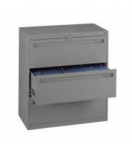 "Tennsco 3-Drawer 42"" Wide Lateral File Cabinet - Medium Grey"