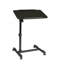 """Office Star LT733-3 Adjustable 22.25"""" - 32.5"""" H Mobile Laptop Cart with Tiltable Black Top"""