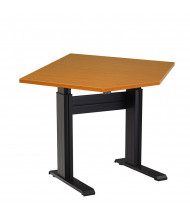 "RightAngle Eficiente Electric Adjustable 27"" - 47"" H Diagonal-Corner Table"