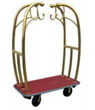 Vestil LUG-C Deluxe Hotel Luggage Cart