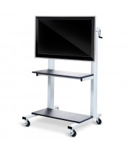 Luxor Height Adjustable Flat Panel AV Cart