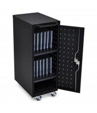 Luxor 12 Laptop/Chromebook Charging Cart, Black