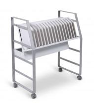 Luxor 16 Tablet/Chromebook Open Charging Cart, White