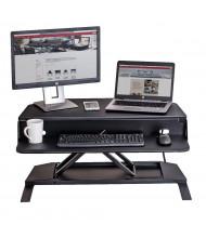 Luxor Level Up Corner Pro Electric Sit-Stand Converter Desk Riser, Black