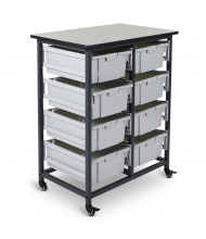 "Luxor 38"" H 8-Drawer Mobile Large Plastic Storage Bin Unit"