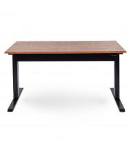 Luxor Height Adjustable Standing Desk, Teak
