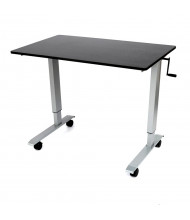Luxor Height Adjustable Standing Desk (Shown in Black / Silver)