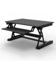 Luxor Level Up Premier Electric Sit-Stand Converter Desk Riser, Black