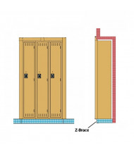 Tennsco Recessed Locker Z Braces