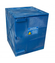 Eagle 4 Gal Polyethylene Countertop Corrosive Chemical Storage Cabinets (Shown in Blue)