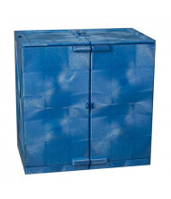 Eagle M24CRA Poly Under Counter Two Door Corrosives Acids Safety Modular Cabinet, 24 Gallons, Blue