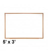 Ghent M2W-35-4 5 ft. x 3 ft. Wood Frame Melamine Whiteboard