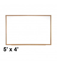 Ghent M3W-45-4 Spectra 5 ft. x 4 ft. Wood Frame Magnetic Painted Steel Whiteboard