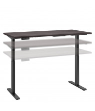 "Bush 60"" W x 30"" D Laminate Top Electric 27"" - 47"" Height Adjustable Standing Desk (Shown in Grey / Black)"