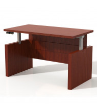 "Mayline Aberdeen 60"" W Electric Straight Front Height Adjustable Desk (Shown in Cherry)"